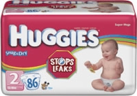 Huggies Snug & Dry Diapers Step 2 Mega (Bag of 86)