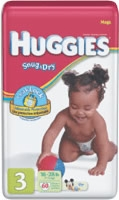 Huggies Snug & Dry Diaper, Size 3, Mega (Bag of 60)
