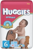 Huggies Snug & Dry Diaper, Size 6, Mega (Bag of 40)