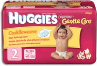 Huggies Supreme Diapers, Size 2, Mega (Bag of 60)