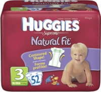 Huggies Supreme Diapers Mega Pack Step 3 (Bag of 52)