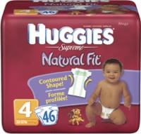 Huggies Supreme Diapers, Size 4, Mega (Bag of 46)