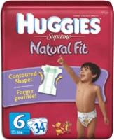 Huggies Supreme Natural Fit, Step 6, Mega (Bag of 34)