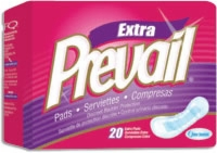 "Prevail Long 12"" Bladder Control Pads (Bag of 20)"