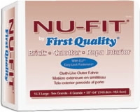 "First Quality Nu-fit Adult Brief, Xlg 59""-64"" (Bag of 15)"