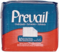 "Prevail Xtra Lg 30"" X 36"" Underpads (Bag of 10)"