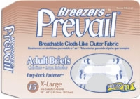 "Prevail Breezer Brief Xl 59""-64"" Waist (Bag of 15)"