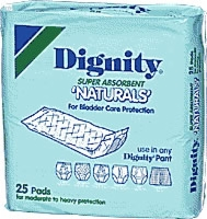 Dignity Super Natural Self Adh Pads (Bag of 25)