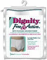 Free & Active Men's Absorbent Washable Brief,xl