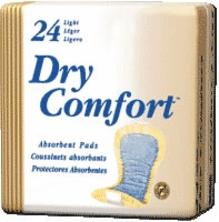 Dry Comfort Incontinence Pad, Light, Beige (Bag of 24)