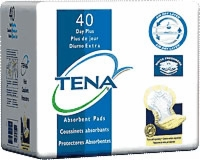 Tena Day Plus Pad, Yellow (Bag of 40)