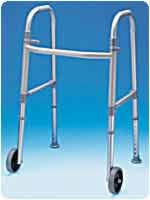 Adult Dual Paddle Walker W/wheels And Glides