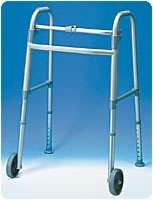 "5"" Wheeled Walker With Glides, 2 Per Case"