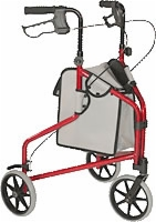 Freedom Cart, Three Wheeled Walker W/pouch,blue