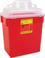 Guardian Sharps Container, 6 Gallons,clear Top