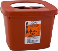 Sharps Multi-Purpose Container with Rotor Lid, 1/2 Gallon (Each)