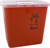 Sage Sharps Container 8 Qt., W/rotor Opening