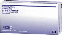 Nitrile Exam Textured Purple Size Medium,100/b