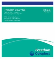 Freedom Clear Ss, Small, Latex-free External Cath