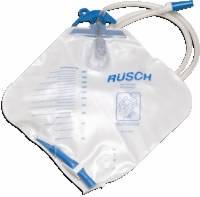Rusch Urinary Drain Bag W/anti-reflux Valve