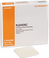 "Flexigel 4"" X 4"" Dressing, 5 Per  Box"