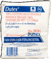 "Dutex 100% Cotton 2"" X 4.5 Yds, 2 Ply, Non-strl,12"