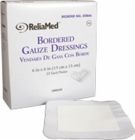 Reliamed Bordered Gauze, 6 X 6, Latex-free,sterile
