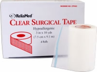 "Reliamed 3"" X 10 Yd Tape, Clear Plastic, Each Roll"