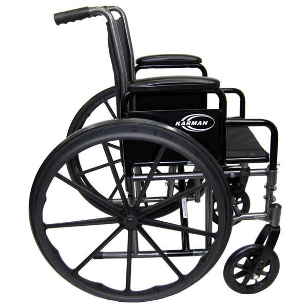 Karman Lightweight Detachable Arm Manual Wheelchair