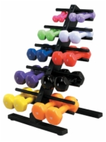 Vinyl Coated Dumbbell 20 Piece Set With Floor Rack - 2 Ea. 1, 2, 3, 4, 5, 6, 7, 8, 9, 10