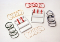 Cando Hand Exercise Set - Unit With 25 Latex Free Bands - 5 Each Y,R,G,B,Blk