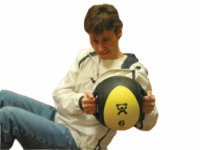 Cando Dual-Handle Medicine Ball - 30 Pound Black