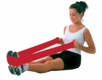 Cando Low Powder Exercise Band - 4-Foot Ready-To-Use - Red - Light