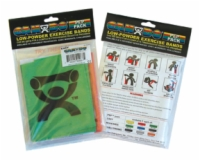 Cando Exercise Band Pep Pack - Challenging - Black, Silver, Gold