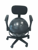 Cando Ball Chair - Metal - Mobile - With Back - With Arms