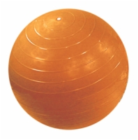 Cando Inflatable Exercise Ball - 22 Inches - Orange - Retail Box