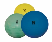 Cando Inflatable Exercise Ball - Deluxe Extra Thick - 18 Inches - Yellow - Retail Box
