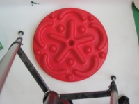 Cando Progressive Instability Pad - Red - 20 Inch Diameter - Level 2