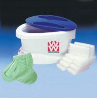 Waxwel Paraffin Bath With 6Lb. Unscented Paraffin Plus Liners, Mitt And Bottie