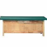 "30"" Wide Treatment Table with 2"" Upholstered Top & Enclosed Cabinet"