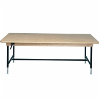 Economy Manual Hi-Low Test Table with Butcher Block Top