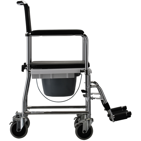 Nova Ortho Med Drop Arm Commode Transport Chair With