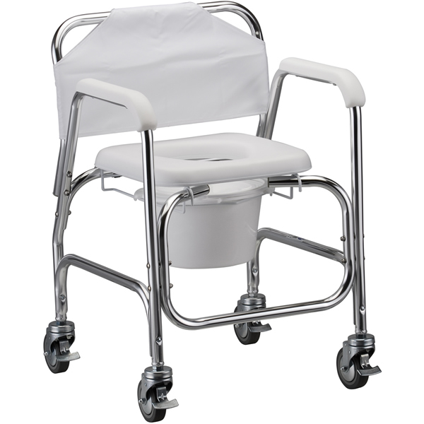 Commode Shower Chair With Wheels | Shower Wheelchairs