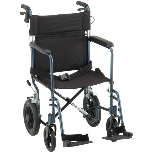nova ortho-med heavy duty lightweight transport chair | heavy duty