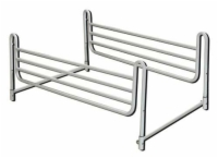 Full Length Home Bed Rails (pr) Powder-Coated Steel Adj.