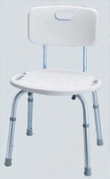 Bath & Shower Seat w/Back Adjustable  Carex (Set-Up)