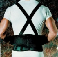 9  Back Belts With Suspenders Black X-Large Sportaid