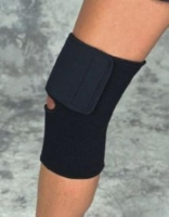 Knee Wrap Black  Neoprene Large 15 -17  Sportaid