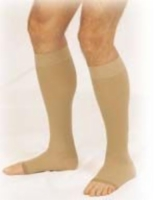 Truform 20-30 Below-Knee Open-Toe Beige Large (pair)