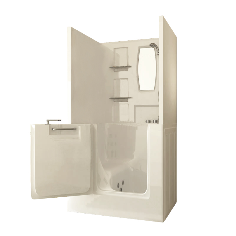 sanctuary shower enclosure walk in bath small - Step In Bathtub